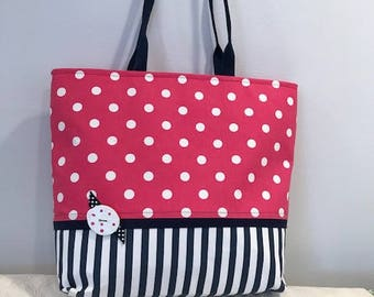 Polka Dot and Stripes Tote