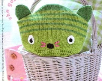 Green Cat Baby Beanie
