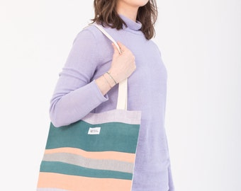 Unique Patchwork Tote bag, zero waste design
