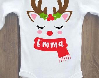 Christmas onesie, personalized Christmas onesie, holiday onesie, christmas outfit, christmas shirt, christmas baby outfit, christmas baby