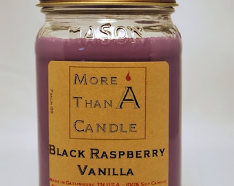 16 oz Black Raspberry Vanilla Soy Candle