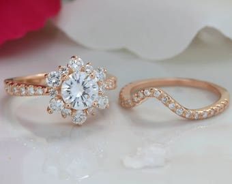 Snowflake Wedding Band