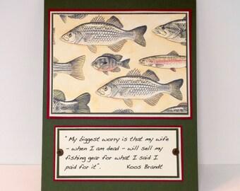 Fishing Card - Fisherman - Fishing Card - Funny Fishing Card -  Fiserman's Birthday - Handmade