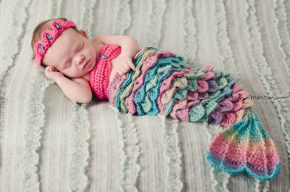 Baby Girl Outfit Mermaid Costume Crocodile Stitch Newborn