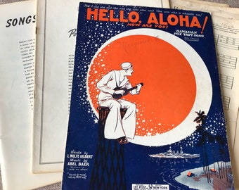 Vintage Hawaiian Sheet Music Lot