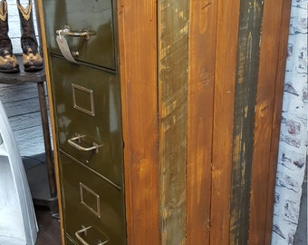 A Cladded 1930s Filing Cabinet