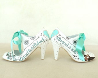 Mint wedding shoes | Etsy