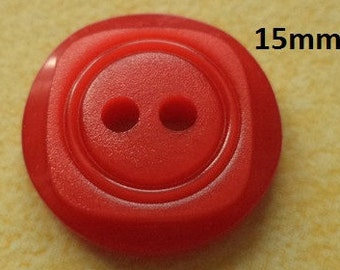10 buttons 15 mm red (4676) button