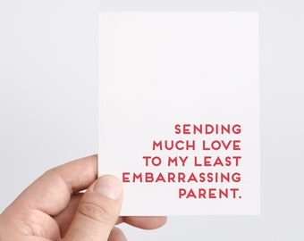 Embarrassing Dad Card | Funny Fathers Day Card | Card From Kids | Two Dads | Funny Cards For Parents | Gifts For Dad | Honest Fathers Day