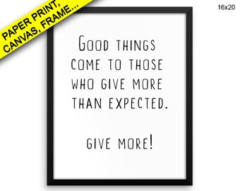 Giver Prints Giver Canvas Wall Art Giver Framed Print Giver Wall Art Canvas Giver Typography Art Giver Typography Print Giver good things