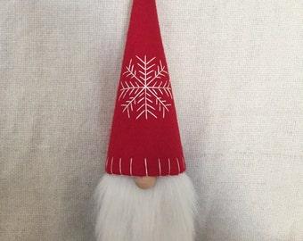 Christmas Gnome Swedish Tomte Nisse Felt Tree Topper