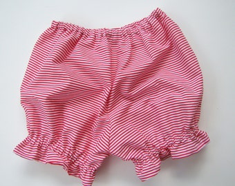 Diaper Cover Bloomers Christmas Holiday Red & White Christmas  Holiday Stripes Baby Bloomers