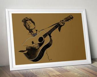 Bob Dylan A4 Print