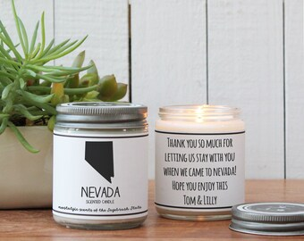 Nevada Scented Candle - Homesick Gift | State Scented Candle | Nevada Gift | College Student Gift | State Candles | I love Nevada