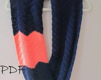 Infinity Scarf Crochet Pattern - Chevron Scarf Pattern - Striped Crochet Pattern - Infinity Scarf Pattern - Crochet Cowl Pattern