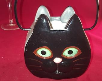 Ceramic Cat Purse Vase