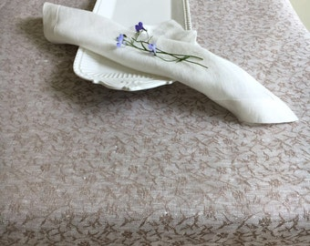 Linen Table Cloth, Creamy Taupe Tablecloth Rectangle, Tablecloth Square Tablecloth linen Tablecloth, Christmas tablecloth Wedding tablecloth