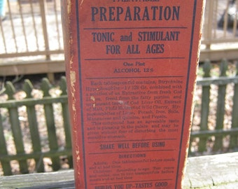 Yerkes Palatable Preparation, Original Box And Jar, Tonic And Stimulant For All Ages, Collectible Vintage Bottle And Box,