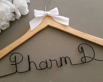 Personalized Pharmacist Hanger, New Graduate or The Soon to Be Pharmacist,  Pharmacist 1st White Coat Ceremony, Gift for Pharmacist