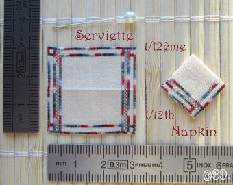 Embroidered towel 1/12 scale Miniature