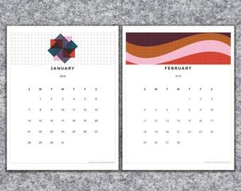 2018 Printable Calendar 8x10