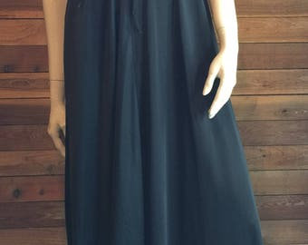 Vintage Lingerie 1960s CATTANI of California Black Size Small Nightgown
