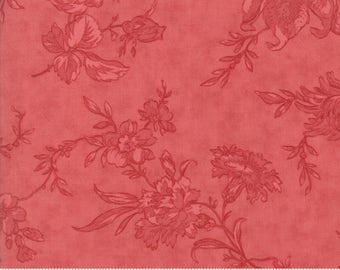 Poetry - Romantic Blooms in Tonal Rose by 3 Sisters for Moda Fabrics