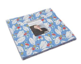 Feed Sacks True Blue Layer Cake by Linzee Kull McCray for Moda Fabrics, 42 pieces 10x10 inch squares--23300LC Moda Precuts