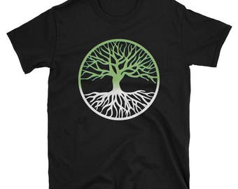 Yggdrasil Tree of Life Green Pagan Asatru T-Shirt