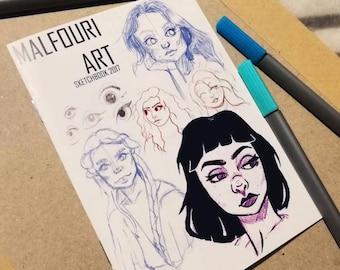 Malfouri Art Sketchbook 2017 Zine
