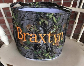 Boys Camo Basket, Boys Camo Easter Basket, Boys Halloween Basket, Boys Camo Halloween Basket, Camo Basket, Camo Bucket, Halloween Bucket