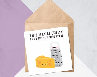 I Think You're Grate // Cute Birthday Cards // Valentine's Cards // Greeting Cards // Greeting Card #50