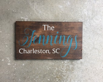 Custom Family Name Sign | Family Sign | Personalized | City and State Sign  | Custom Address Sign