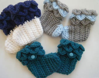 Assorted baby booties made to order