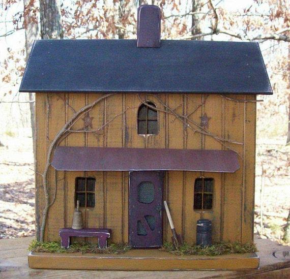 Primitive Birdhouse Primitive Farmhouse Rustic Birdhouse
