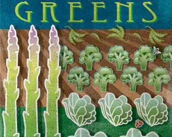 vegetarian art, vegetarian decor, organic decor, typographic poster, healthy lifestyle, farmer's market, organic food art, 8 x 10 print