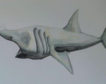 """Art Print, """"Basking Shark"""" Giclee Print"""