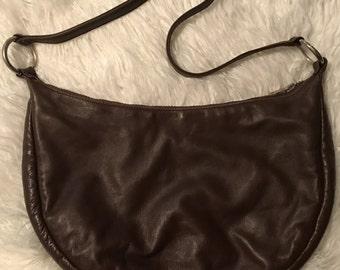 Vintage Temma Dahan Brown Leather Shoulder Bag