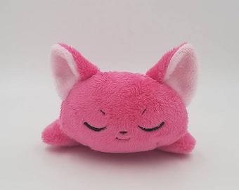 Pink Sleepy Kitty Kuttari Plush Toy ~ READY to SHIP!!
