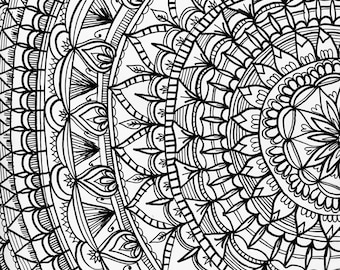 Black and White Mandala Art Print | Mandala Art | Black and White Wall Art Print | Bohemian Mandala Decor | Bohemian Wall Art | Boho Decor