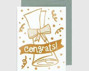 Congratulations Card - Graduation - Diploma