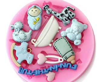 Baby fondant unconventional silicone mould baby cake
