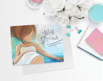 Thank You Cards - Midwife, OB, Doula, Client, or Nurse Gift