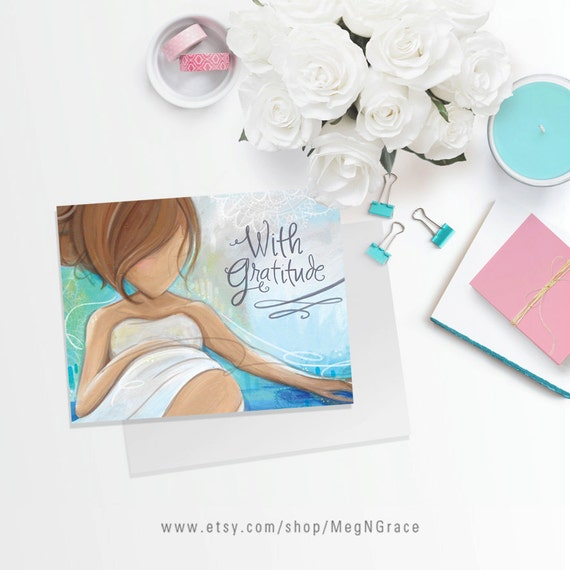 thank you cards midwife ob doula client or nurse gift