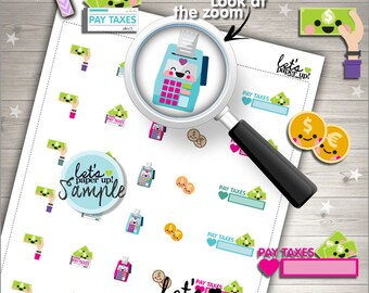 60%OFF - Tax Stickers, Printable Planner Stickers, Taxes, Pay Taxes, Money Stickers, Kawaii Stickers, Planner Accessories, Reminders