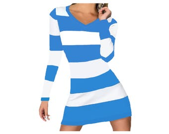 Light Blue + White Spirit Stripe Dress