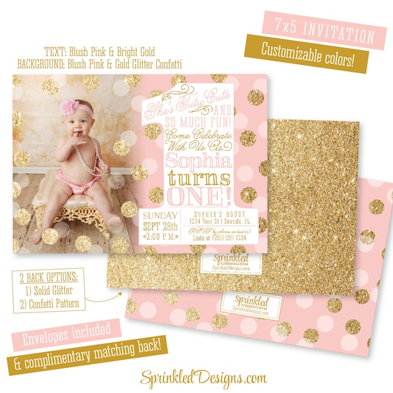 Ballerina first birthday girl invitation photo card tutu like this item filmwisefo Image collections