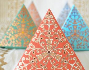 Set of 5 Small Ornate Gift Boxes, Wedding Gift Box, Wedding Favor Box, Indian Wedding Favor, Tea Bag Favor, Eid Gift box, Mithai box