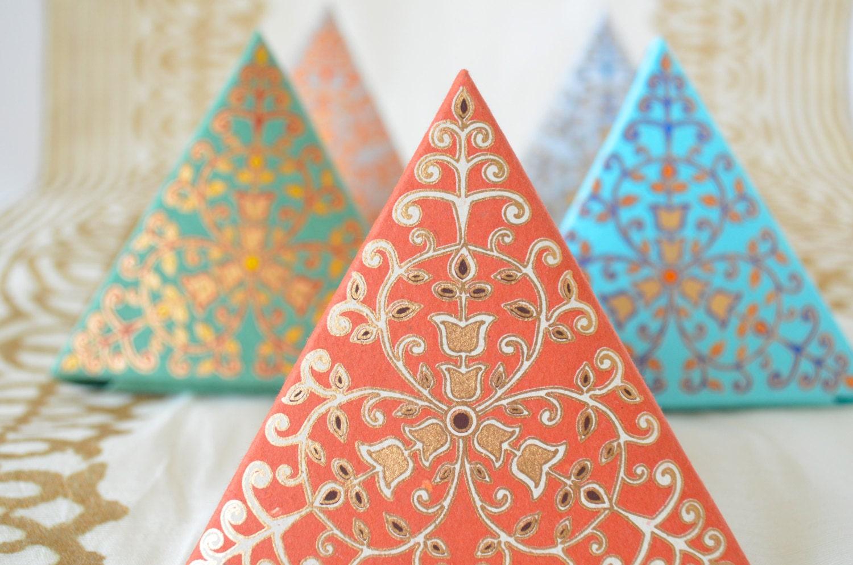 Set of 5 Small Ornate Gift Boxes Wedding Gift Box Wedding
