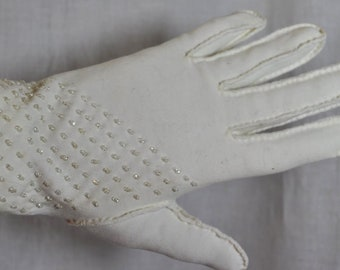 Vintage Gloves Beaded  - Seed Beads